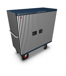 Buy Tack Box Olympic Black & White Stripes