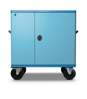 Buy Tack Locker Double Custom Blue & White Houndstooth