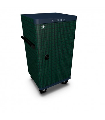 Buy Tack Box Green Tartan